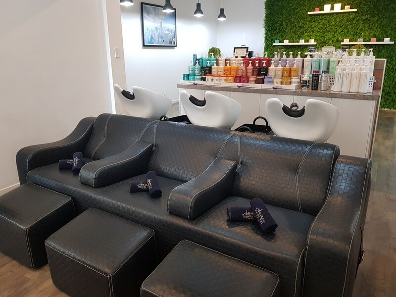 Samantha Jones Hair Co Our Salon Gallery - Comfortable and Well-Lighted Salon Closeup to Salon Chair and Couches