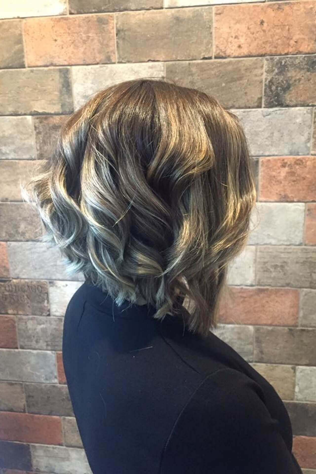 Samantha Jones Hair Co Our Work Image Gallery - Short Silver Highlights Newly Cut Natural Wave