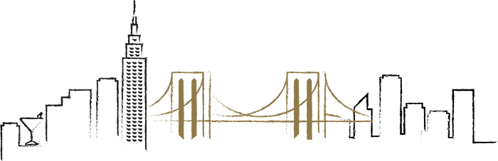 Samantha Jones Hair Co Signature Image New York Bridge Silhouette Skyline Trace